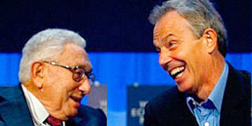 Henry Kissenger and Tony Blair