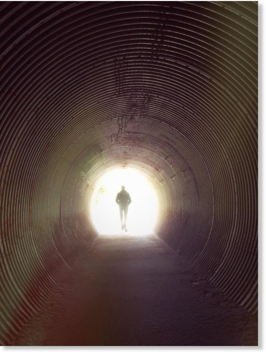 Tunnel of light after death
