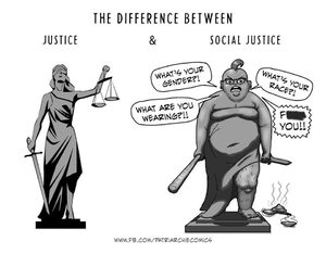 Social justice, the antithesis of justice?