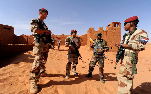 French soldiers stationed in Niger