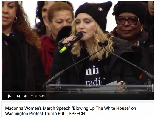 Madonna at Women's March