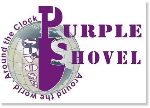 Purple shovel