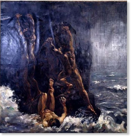 The Flood (Die Sintflut, Suendflut) by Lesser Ury.