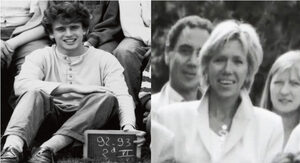 Emmanuel and Brigitte Macron during school year 1992-1993