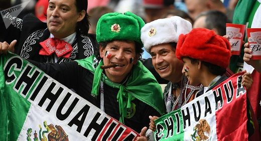 mexico fans russia