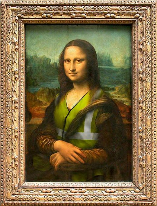 mona lisa yellow vest