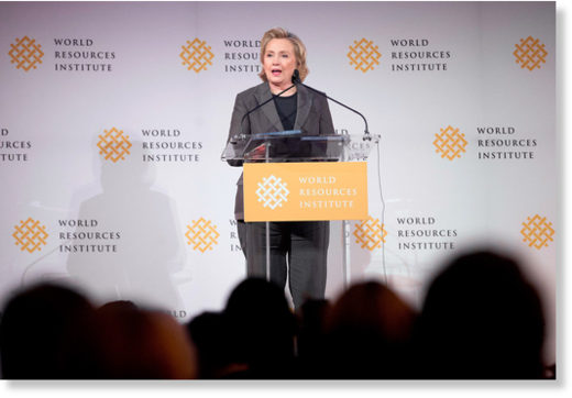 Hillary Clinton Addresses the World Resource Institute