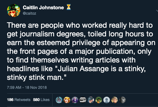 Caitlin Johnstone Julien Assange