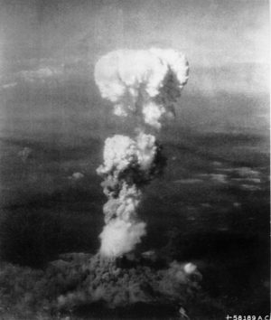 The atomic cloud over Hiroshima