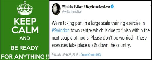 notice police exercise skripals swindon