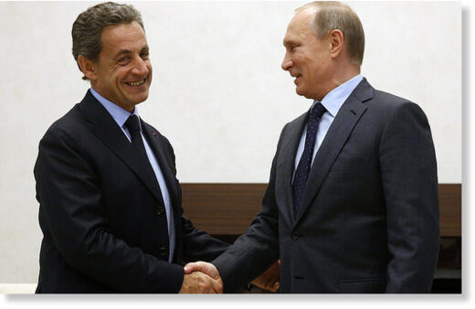 Sarkozy and Putin