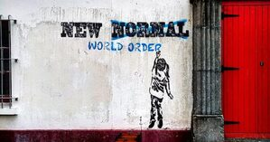 NWO new normal grafitti